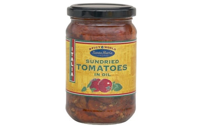 Santa Maria Spicy World Sundried Tomatoes in oil 280/150g aurinkokuivattu tomaatti öljyssä