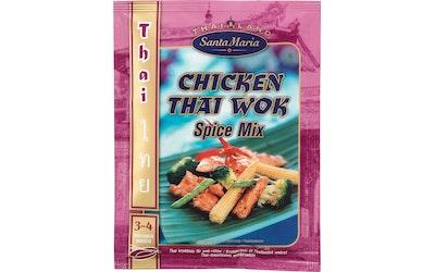 Santa Maria Chicken Thai Wok Spice Mix maustesekoitus 39g  pussi