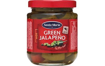 Santa Maria Tex Mex  Green Hot vihreä jalapeño chili liemessä 215/110g