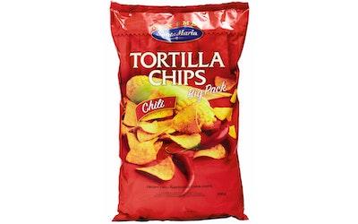 Santa Maria Tex Mex Tortilla Chips Chili maissilastut chilillä maustettu 500g