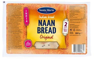 SM India Naan Bread 260g Original