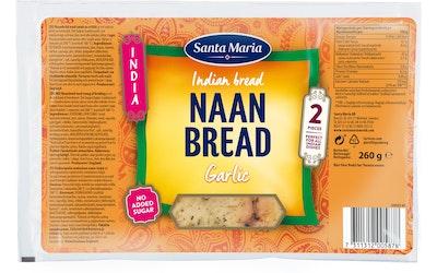 SM India Naan Bread 260g Garlic