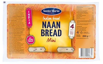 SM India Naan Bread 260g Mini