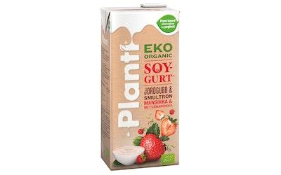 Planti soygurt 0,75l mansikka & metsämansikka luomu