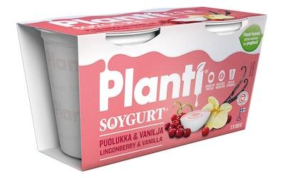 Planti soygurt 2X150g puolukka-vanilja