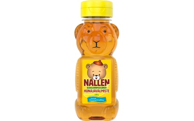 Svensk Honungsförädling Nallen banaaninmakuinen hunajavalmiste 330g