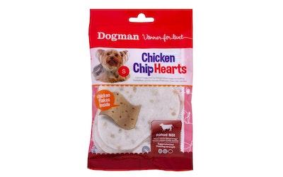 Dogman koiranherkku sydänlastu 4kpl 30g kana