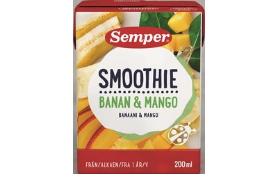 Semper Smoothie banaani ja mango 200ml 1v