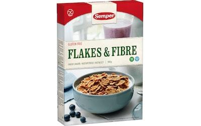 Semper Flakes & Fibre 300g gluteeniton kuitupitoiset hiutaleet