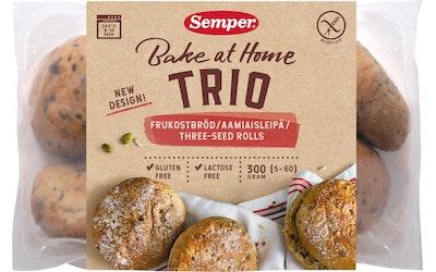 Semper Trio aamiaisleipä 5 x 60g gluteeniton