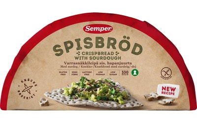 Semper Varrasnäkkileipä 330g gluteeniton
