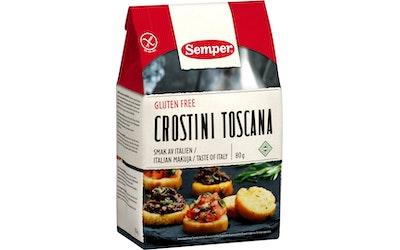 Semper Crostini Toscana 80g gluteeniton keksi