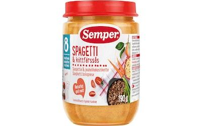 Semper Spagettia & jauhelihakastiketta 190g 8kk
