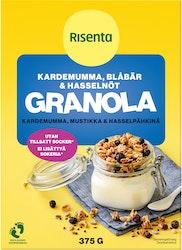 Risenta granola 375g kardemumma-mustikka-hasselpähkinä