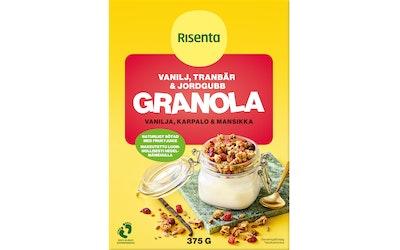 Risenta granola 375g vanilja-karpalo-mansikka