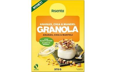 Risenta granola 375g ananas-chia-manteli