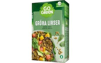 GoGreen Vihreät Linssit 400 g