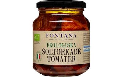 Fontana Luomu aurinkokuivattuja tomaatteja öljyssä 285g/150g