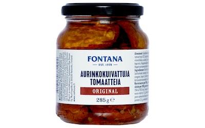 Fontana Aurinkokuivattuja tomaatteja öljyssä marinoitu 285g/150g