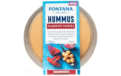 Fontana paahdettu paprika hummus 200g