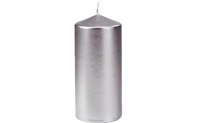 Duni Pöytäkynttilä hopea 7x15cm 50h