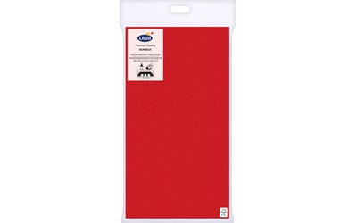 Duni Dunisilk+ Pöytäliina 138x220cm Punainen