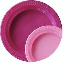 Duni 22x17cm Colorix Hot pink muovilautanen 20kpl