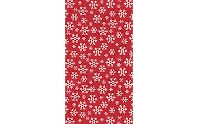 Dunicel pöytäliina 138x220cm Red Snowflakes