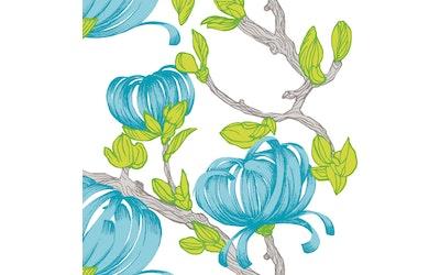 Vallila lautasliina 20kpl 24cm Sydänkäpy sininen