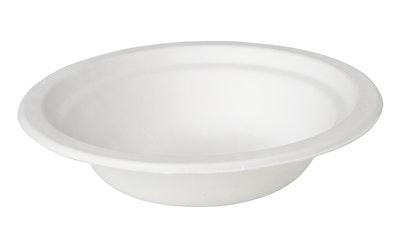 Duni syvä lautanen 10kpl 18cm bagassi valkoinen