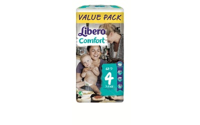 Libero Comfort teippivaippa koko 4 (7-11 kg) 68 kpl Value Pack