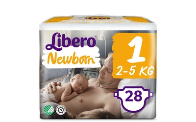 Libero Newborn teippivaippa koko 1 (2-5 kg) 28 kpl