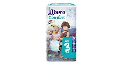 Libero Comfort teippivaippa koko 3 (5-9 kg) 62 kpl