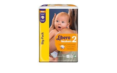 Libero Newborn teippivaippa koko 2 (3-6 kg) 88 kpl