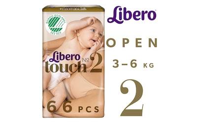 Libero Touch teippivaippa koko 2 (3-6 kg) 66 kpl