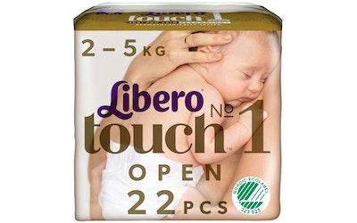 Libero Touch teippivaippa koko 1 (2-5kg) 22 kpl