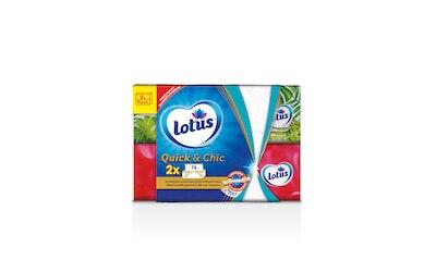 Lotus Quick&Chic talouspaperiarkki tuplapakkaus 2x75kpl