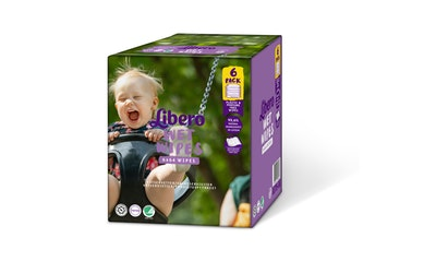Libero puhdistuspyyhe 384kpl 6-pack