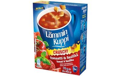 Blå Band Lämmin Kuppi Crunchy tomaatti-basilikakeitto krutongeilla 3x23,3g
