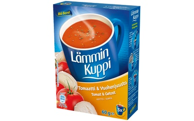 Blå Band Lämmin Kuppi tomaatti-vuohenjuustokeitto 3x20g
