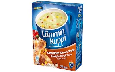 Blå Band 75g Lämmin Kuppi Kermainen Kana-Pastakeitto