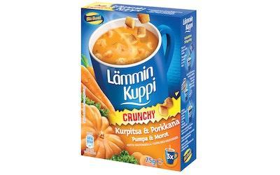 Blå Band Lämmin Kuppi Crunchy Kurpitsa-Porkkanakeitto krutongeilla 3x25g