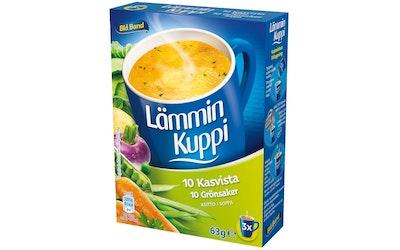 Blå Band Lämmin Kuppi 10 Kasvista keitto 3x21g