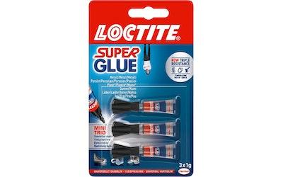 Loctite Super Glue Mini Trio 3 x 1g