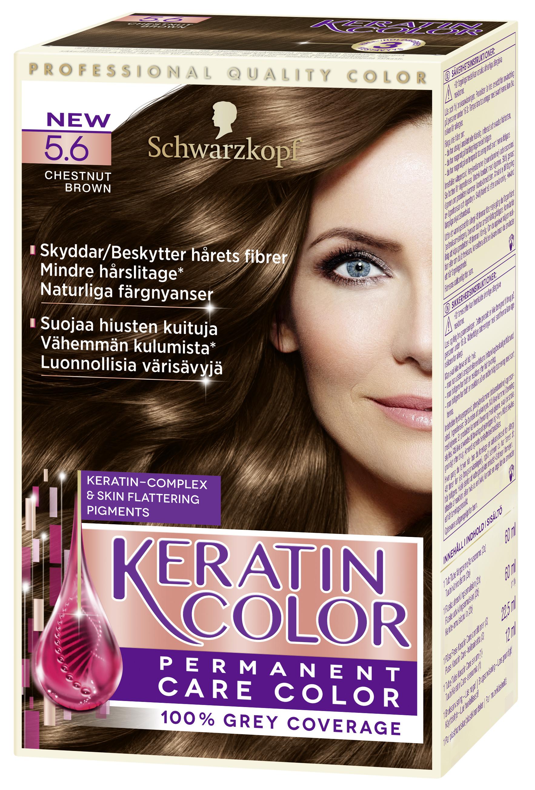 Schwarzkopf Keratin Color hiusväri 5.6 Kastanjan ruskea – K-Ruoka 1eb8a11078