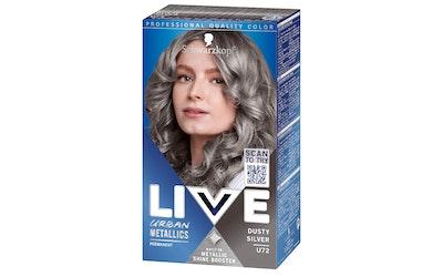 Schwarzkopf Live hiusväri Urban Metallics U72 Dusty Silver