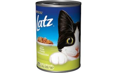 Latz Riistaa & Kanaa Kastikkeessa 400g kissanruoka