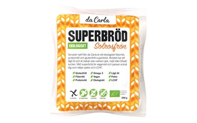 Dacarla luomu auringonkukansiemen superleipä 350g