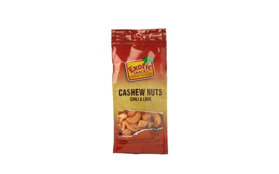 Exotic Snacks cashewpähkinöitä chili-lime 100g