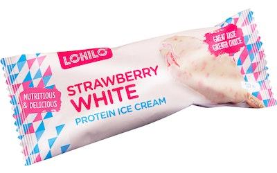 Lohilo proteiinijäätelö 80g strawberry white